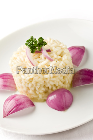 risotto mit roten zwiebeln
