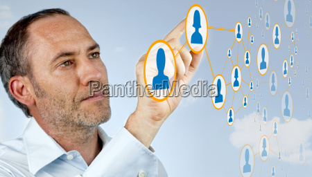futuristic cloud computer netzwerk
