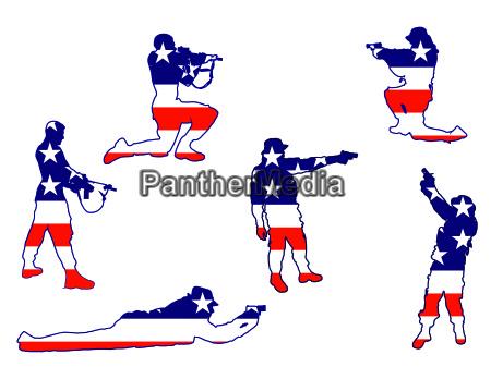 soldaten silhouetten