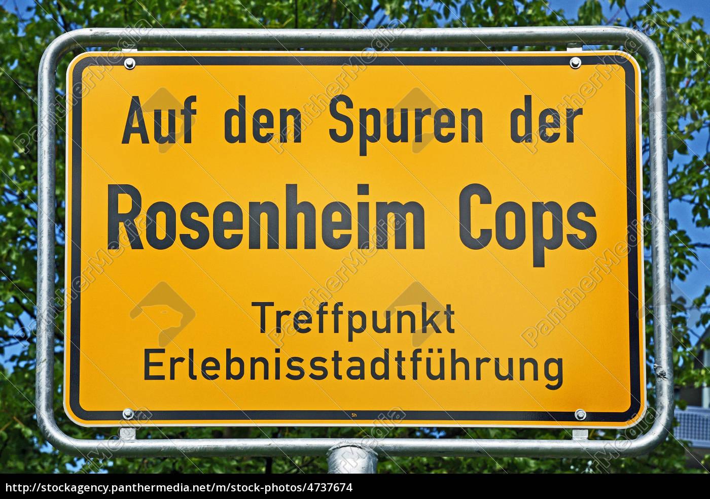 Schild Rosenheim Cops Stock Photo 4737674 Bildagentur