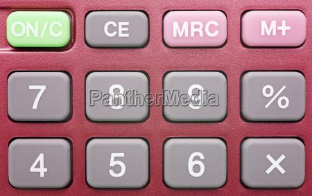 pocket calculator red