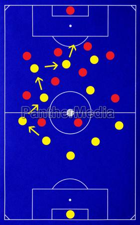 fussball strategie soccer tactics blue