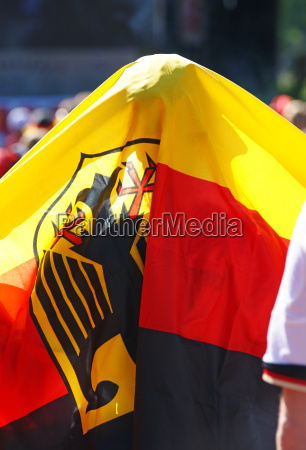 public viewing german flag