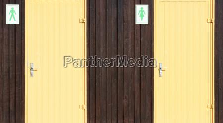 doors for ladies and gentlemen