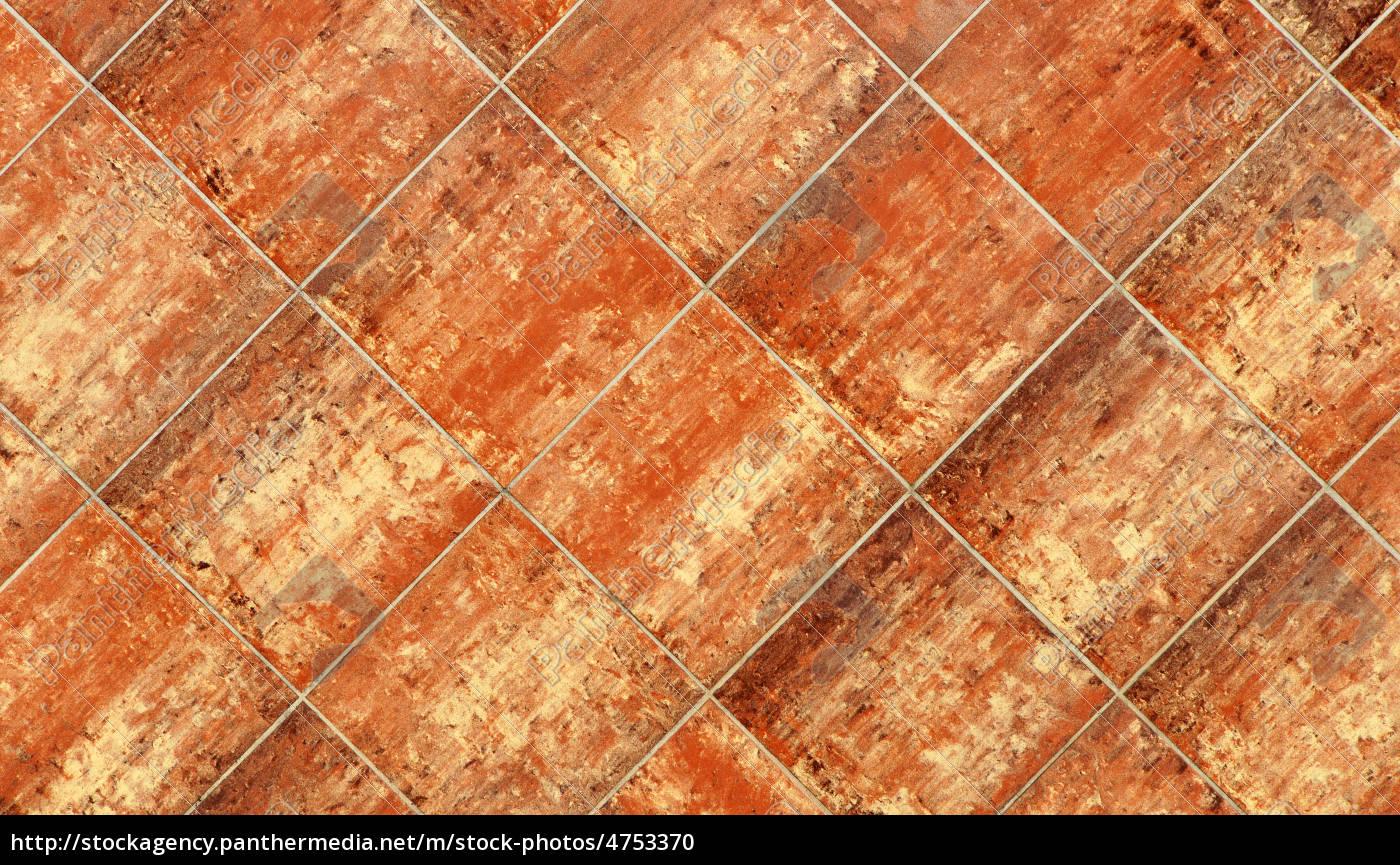Terrakotta Fliesen Terracotta Tile Stock Photo 4753370