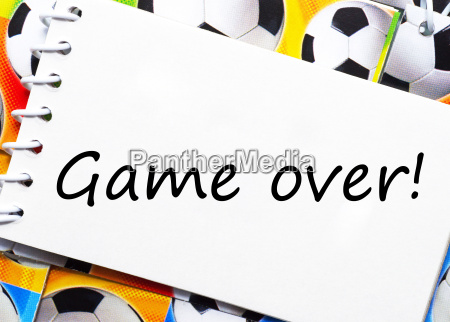 game over soccer football