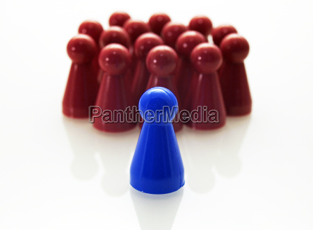 leadership concept red blue