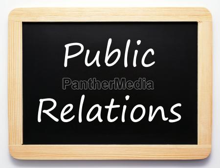 public relations communications concept