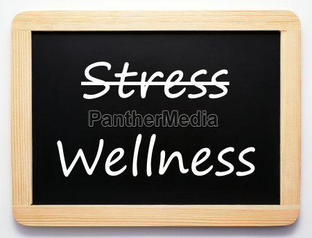 stress wellness concept sign