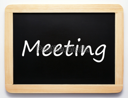 meeting concept sign