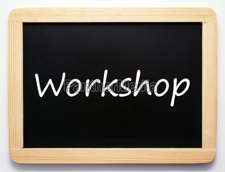 workshop concept sign