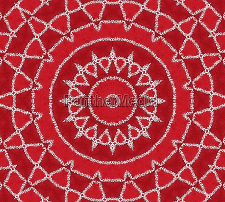 red inspiration mandala