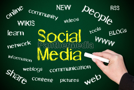 social media concept for business
