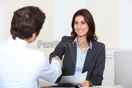 bewerber die ein interview