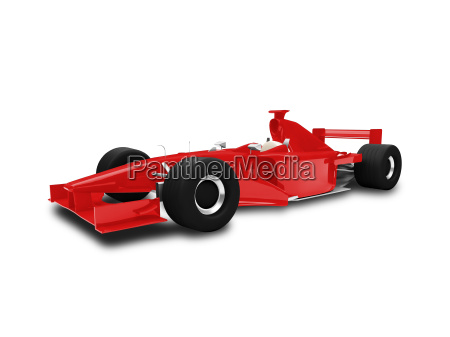 isolated red speed car front view