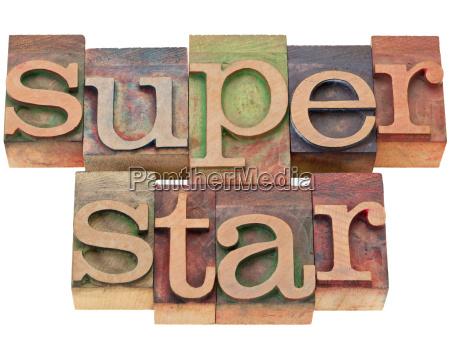 superstar in letterpress type