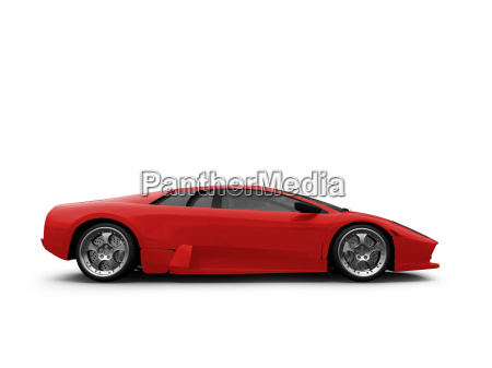 ferrari isolated red side view