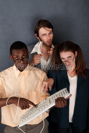 drei abgelenkt nerds