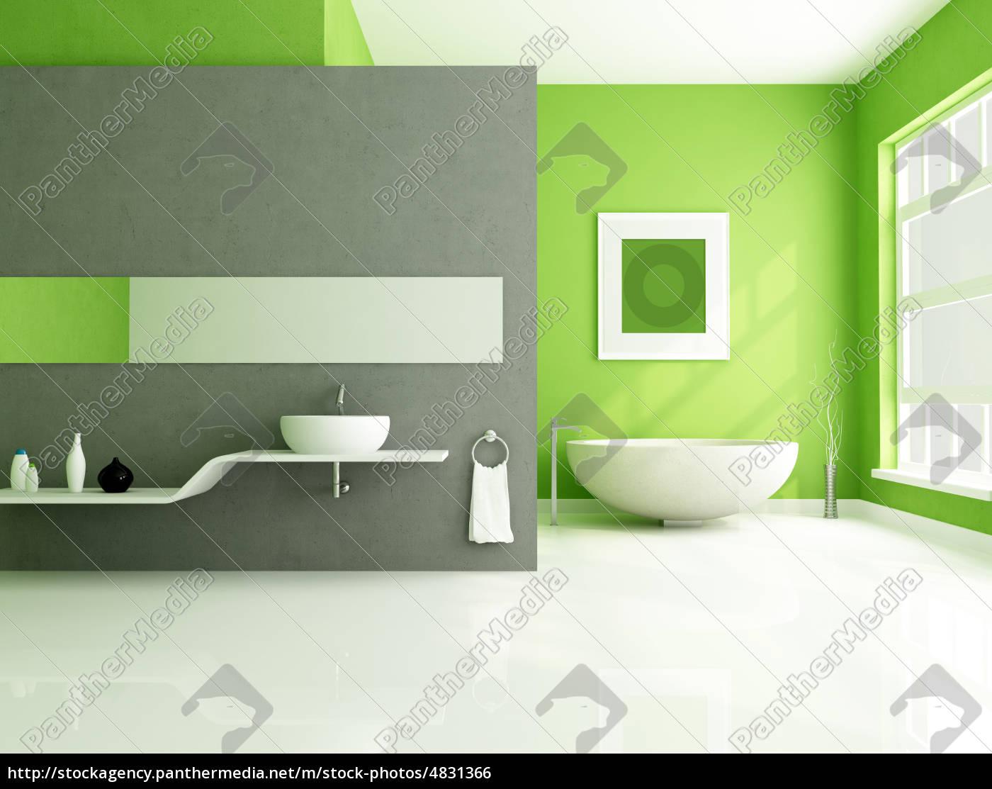 Stock Bild 4831366 - grün und grau zeitgenössische badezimmer