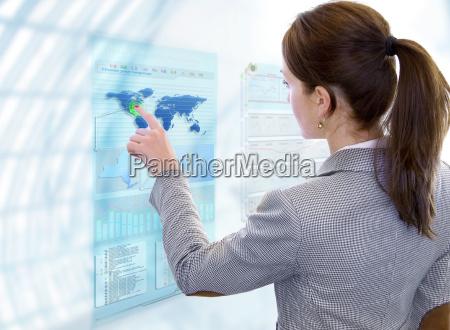 futuristic business screen