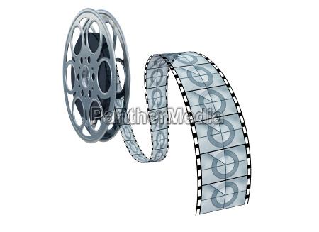 isolated movie reel