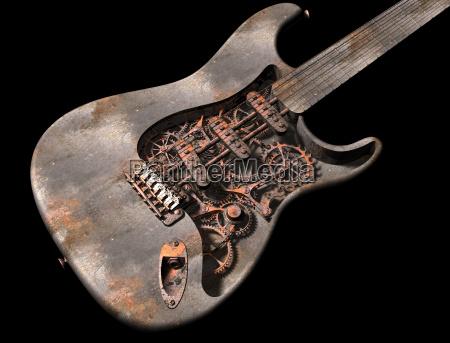 grungy dampf punk gitarre