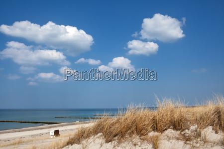 on the beach of ahrenshoop