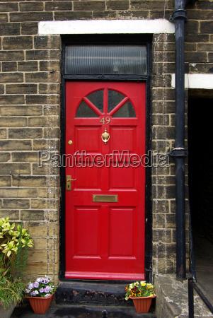 haustuer englisch rot eingang britisch zuhause