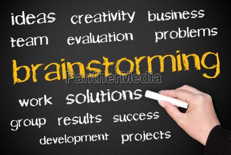 brainstorming business concept