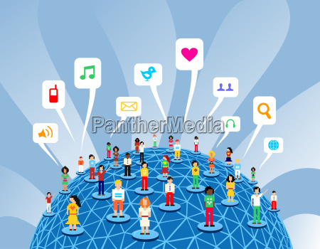 globale social media netzwerk