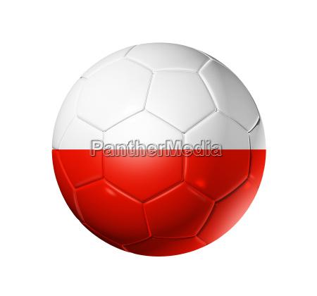 fussball ballball mit polen flagge