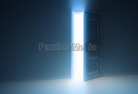 door half open
