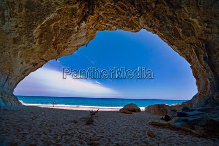 paradies hoehle meer blauen himmel urlaub
