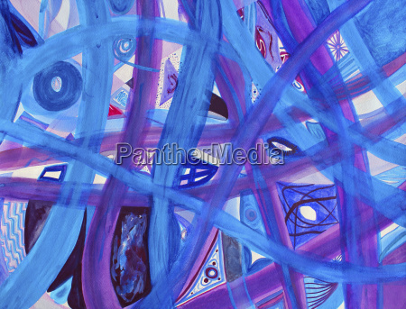 blue purple paths abstract background
