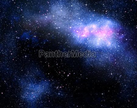 sternen tiefen weltraum nebual und galaxien