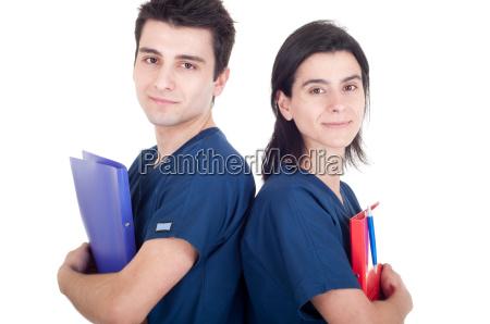 AErzte team mit ordnern