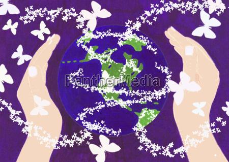 hands around the world