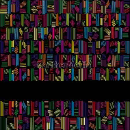 abstract rainbow colors banner on black