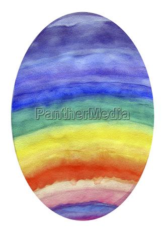 rainbow colored egg