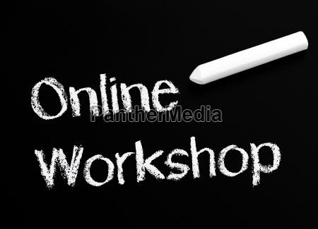 online workshop chalkboard