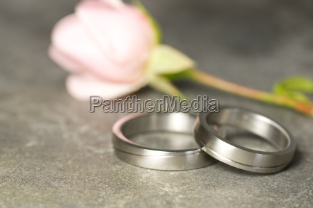 wedding rings of platinum and a