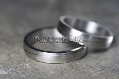 wedding rings in detail