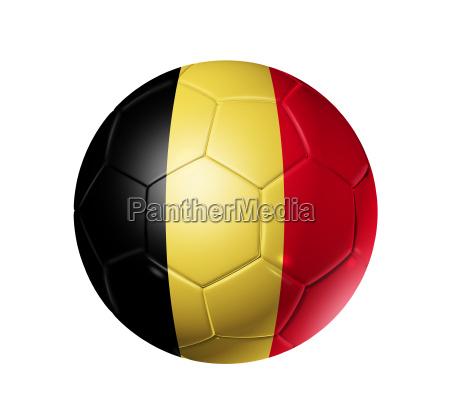 fussball fussball ball mit belgien flagge