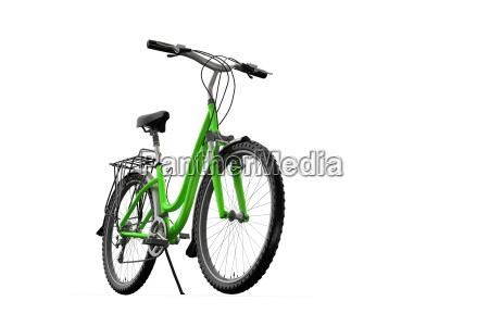 3d mountain bike on a white