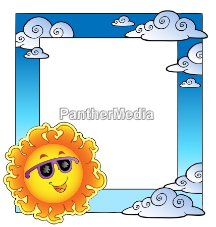 frame with summertime theme 2