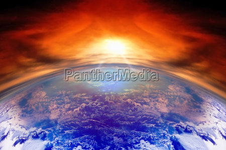 sunset on planet earth