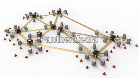 schematische netzwerk