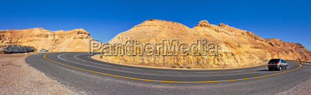 panoramic view on highway among the