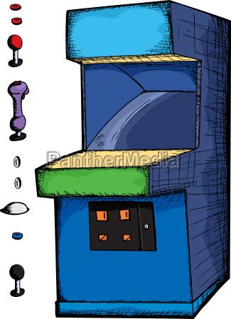 anpassbare arcade game
