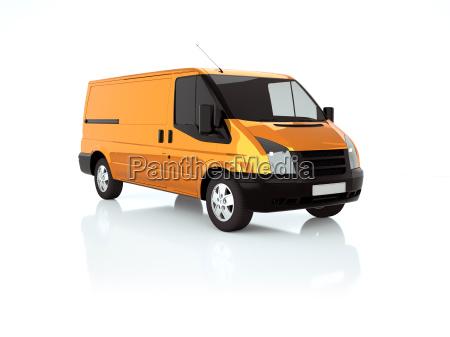 orange 3d van